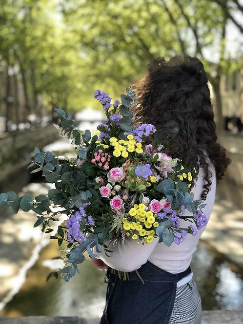 Bouquet champêtre eucalyptus