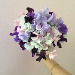 bouquet-de-mariée-pois-de-senteur Marlies Fleurs fleuriste Nimes