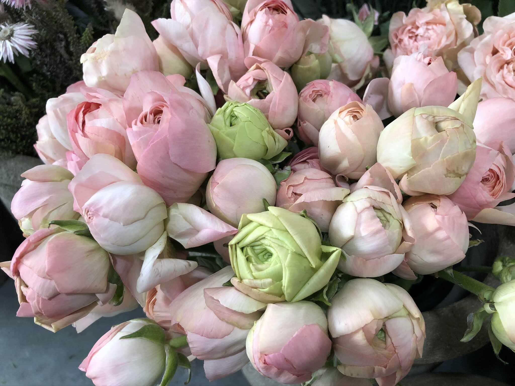 Table pivoines Marlies Fleurs fleuriste