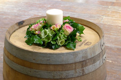 centre-de-tables-mariage-roses-hortensia Marlies Fleurs fleuriste Nimes