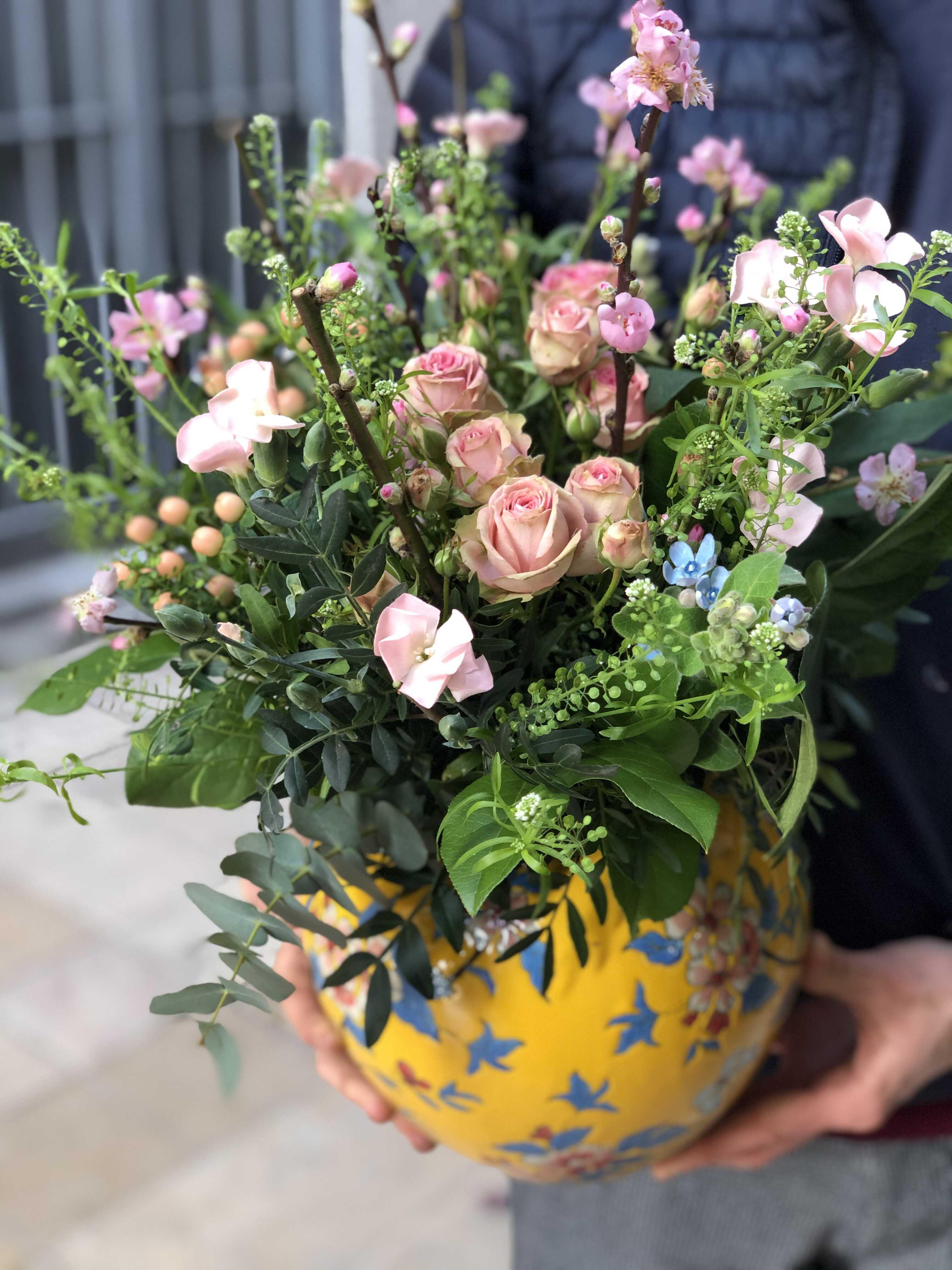 vase fantaisie Marlies Fleurs fleuriste Nimes