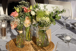 centre-de-table-mariage-lysianthus-gypso Marlies Fleurs fleuriste Nimes