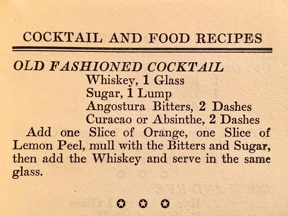 Burke's Old Fashioned Recipe