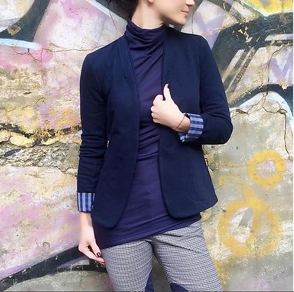 Кофта-пиджак женский синий