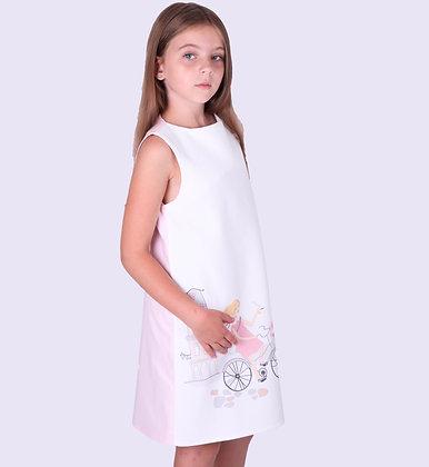 Платье Париж с розовой спинкой