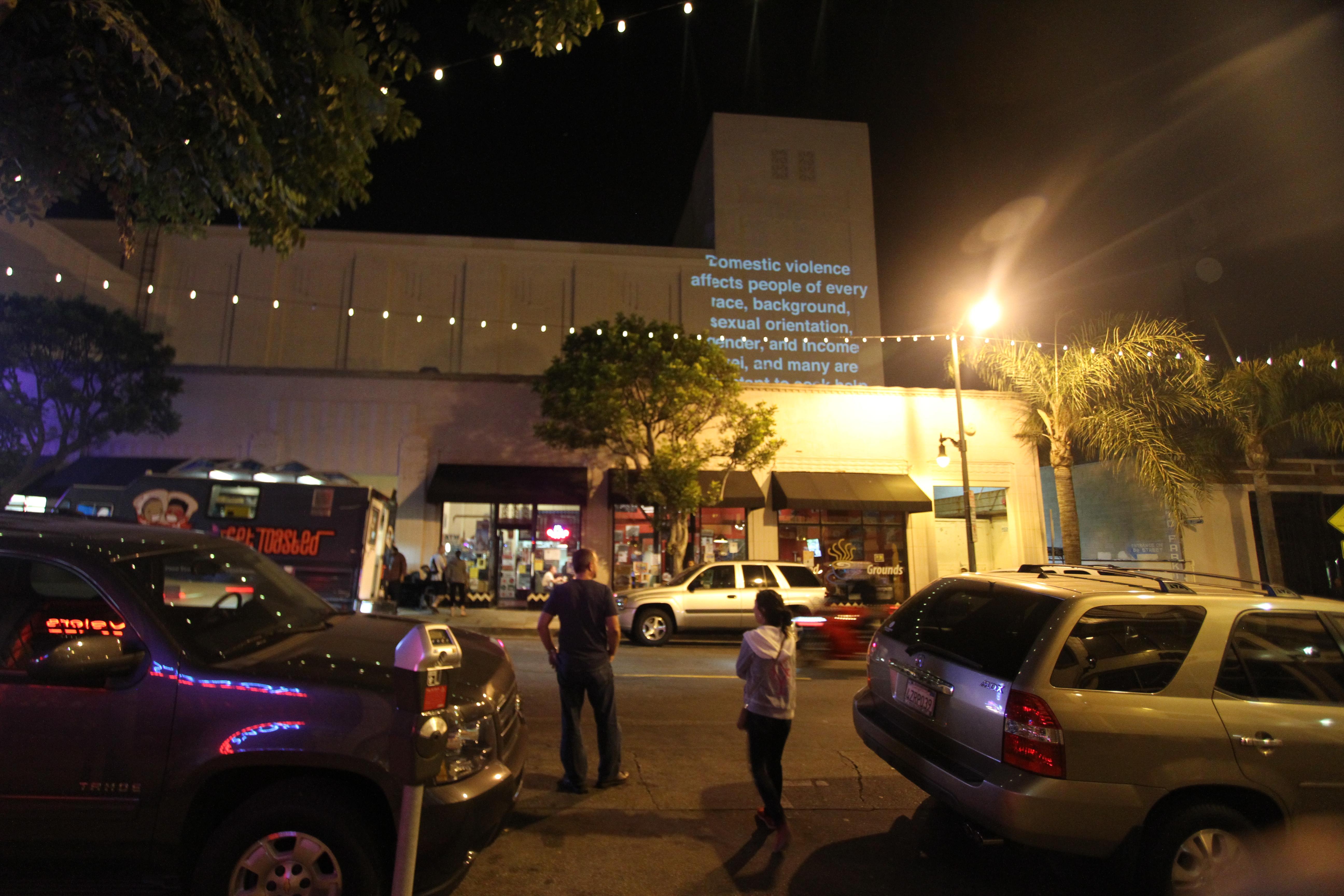 Site#2: San Pedro public projection