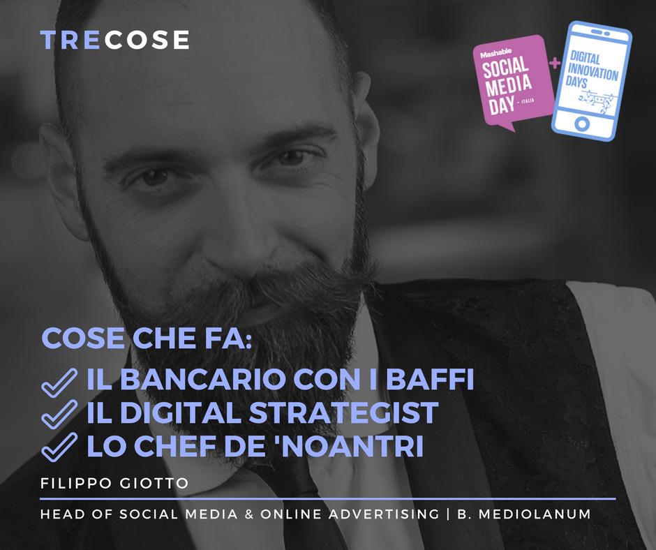 Tre cose: Filippo Giotto | Insegnare Branding | il visual personal branding in pillole