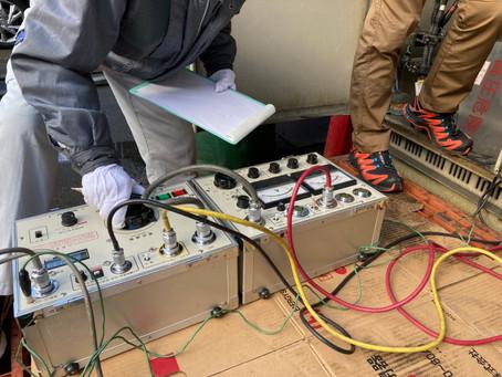 高圧機器更新工事の竣工試験を実施しました。