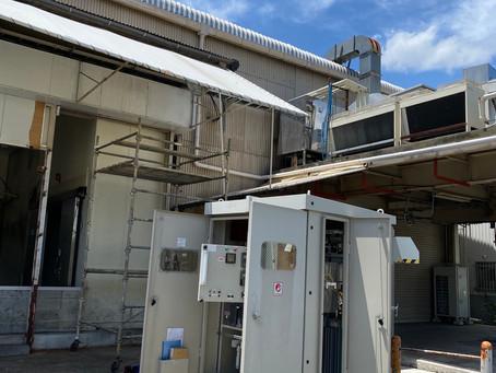 新設受電に伴う耐圧試験を実施しました。