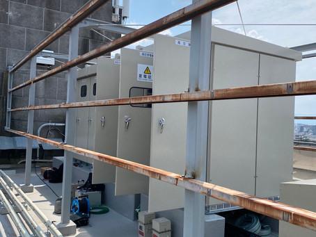 新設受電に伴う竣工試験を行いました。