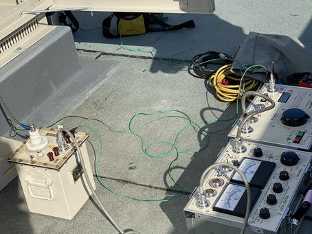 新設受電に伴い耐圧試験を実施しました。
