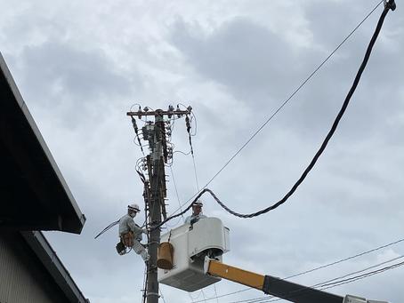 高圧ケーブル引込み工事を行いました。