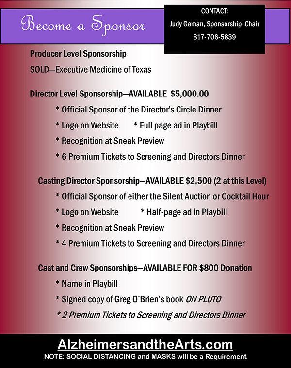 AlzheimersandtheArts Sponsorship Packet