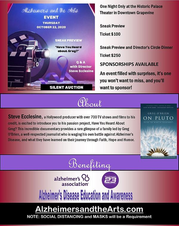 AlzheimersandtheArts Sponsorship Packet.