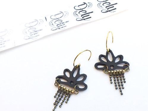 Boucles d'oreilles Nina gold chain