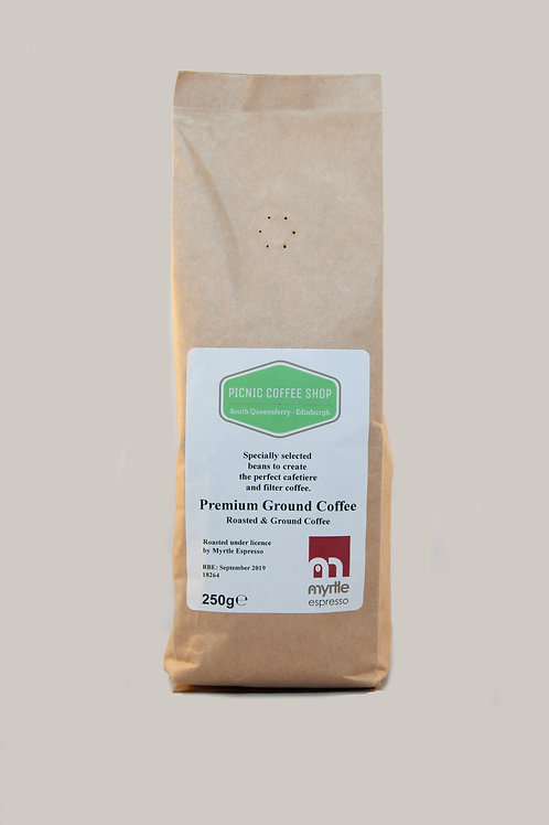 Premium Ground Coffee: 250g