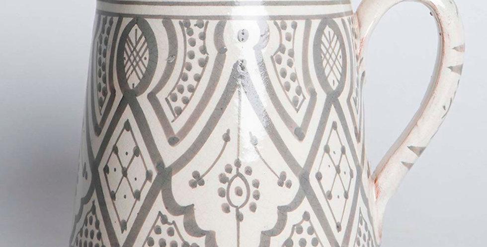 Grey Ceramic Pitcher
