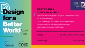 Vem aí o Design for a Better World Award