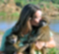 Volunteer, C.A.R.E., Samantha Dewhirst, baboon, sanctuary, africa, south africa