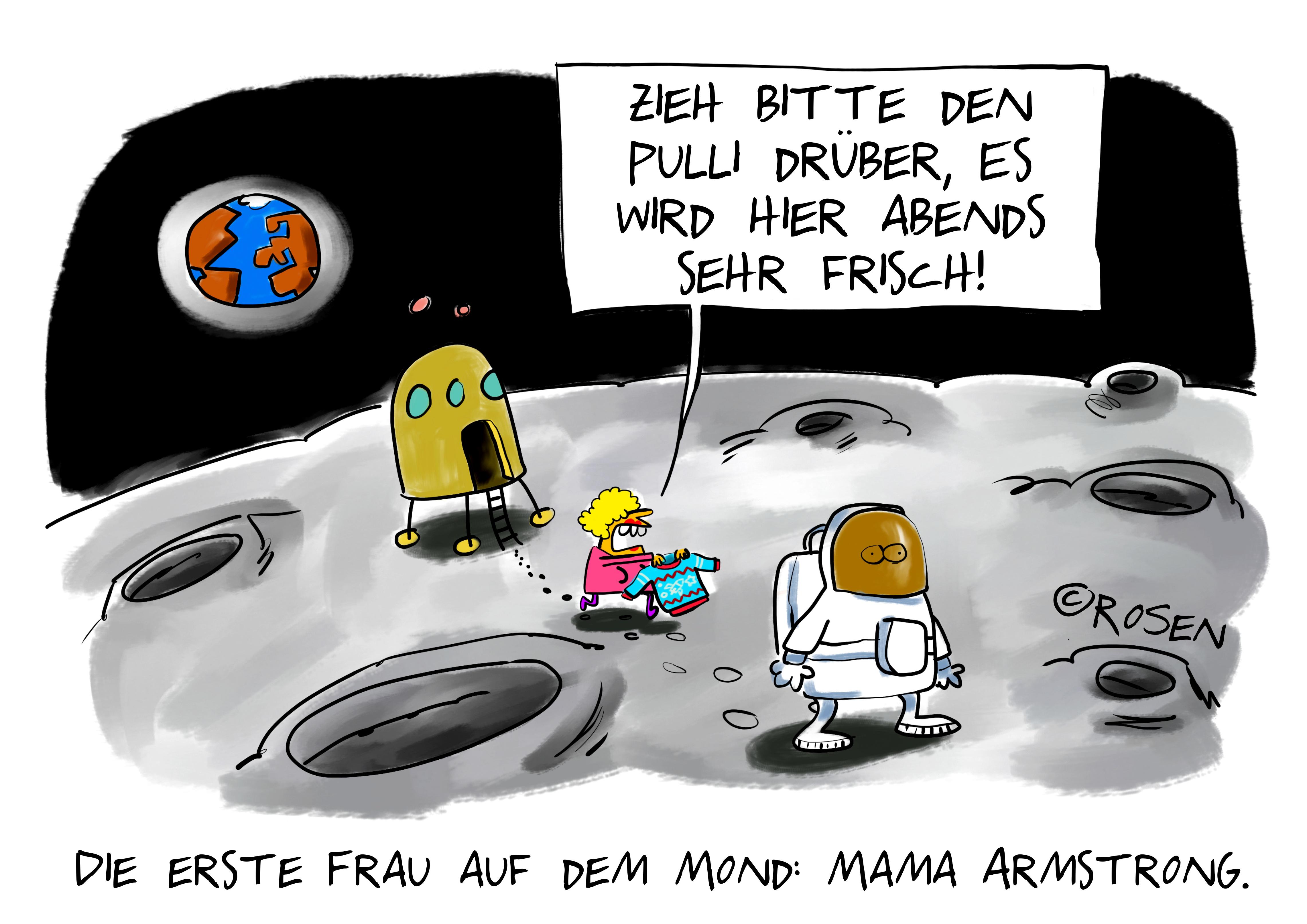 Frau auf dem Mond