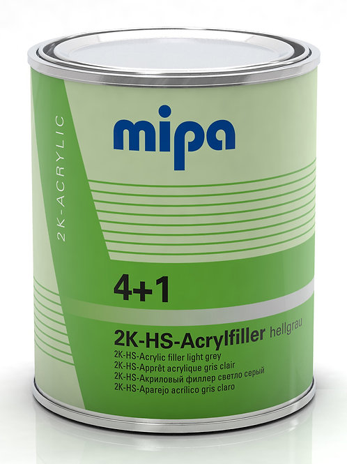 RELLENO GRIS CLARO MIPA 4+1 HS ACRYLFILLER 1L 3:1