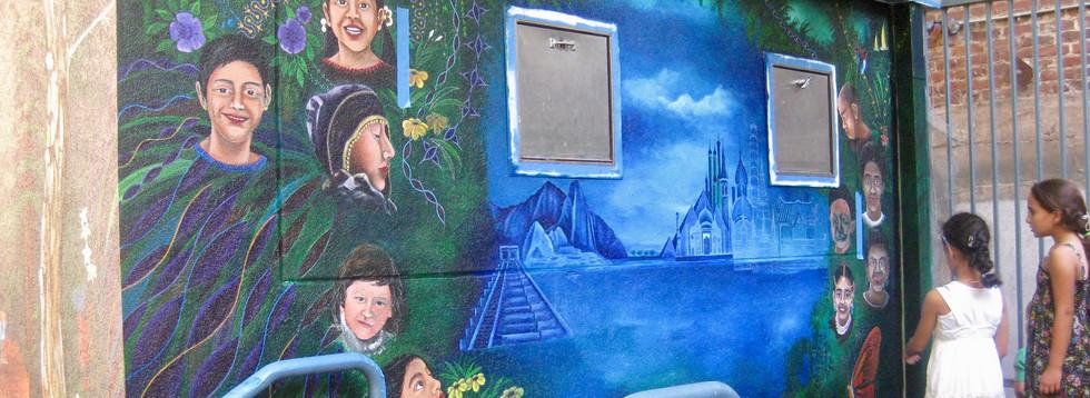 Mural Cummunit Ctr-Turk St-San Francisco