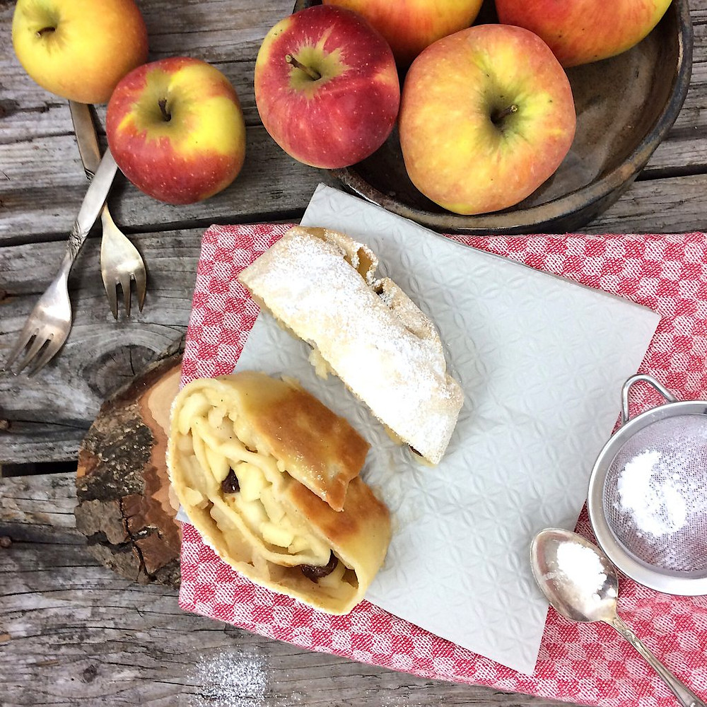 Glutenfreier Apfelstrudel
