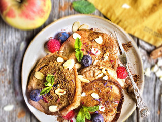 Glutenfreies und veganes Apfelküchlein