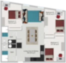 Northstar Dinkytown Apartments Three Bedroom Floor Plan B