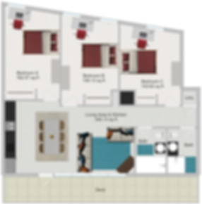 Northstar Dinkytown Apartments Three Bedroom Floor Plan E