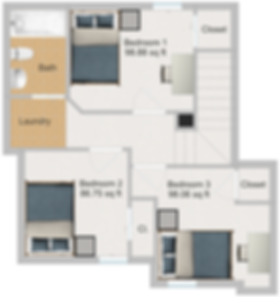 The Cluster Dinkytown Apartments Three Bedroom Floor Plan 105