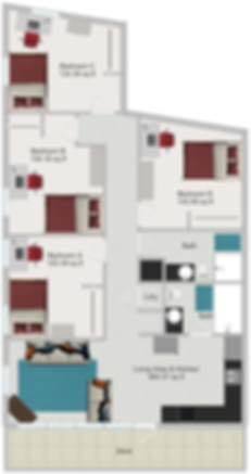 Northstar Dinkytown Apartments Four Bedroom Floor Plan E