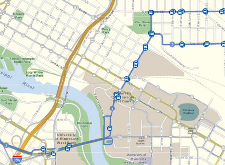 Which bus goes from Dinkytown to UMN campus?