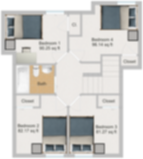 The Cluster Dinkytown Apartments Four Bedroom Floor Plan 104