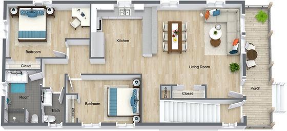 GGR - 832 18th - Main Level - 3D Floor P