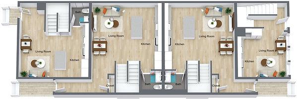 GGR - 505 8th St - Main Floor - 3D Floor