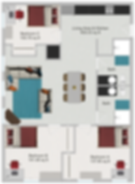 Northstar Dinkytown Apartments Three Bedroom Floor Plan A