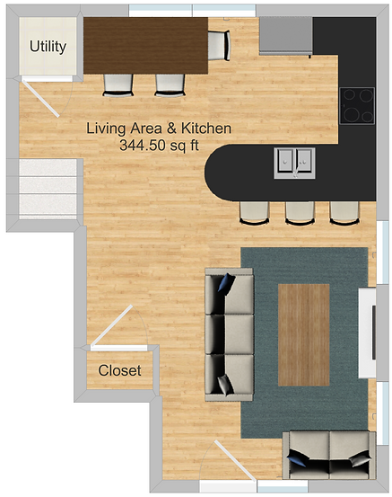 The Cluster Dinkytown Apartments Three Bedroom Floor Plan 107