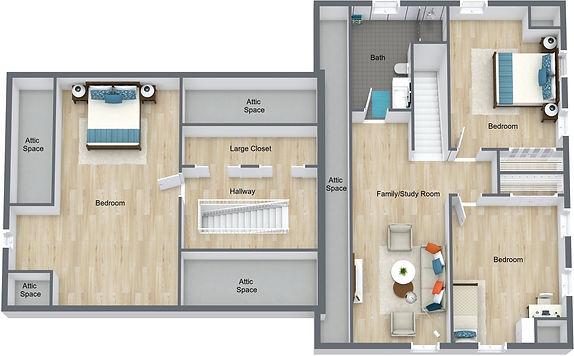 GGR 1078 18th - 2nd Floor - 3D Floor Pla