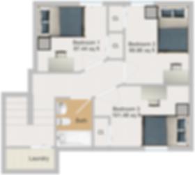 The Cluster Dinkytown Apartments Three Bedroom Floor Plan 103