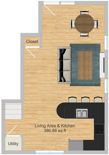 The Cluster Dinkytown Apartments Four Bedroom Floor Plan 106