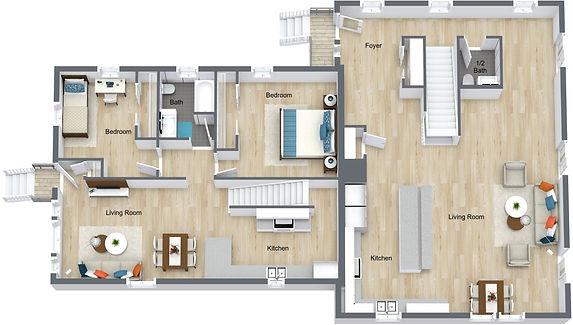 GGR 1078 18th - Main Floor - 3D Floor Pl
