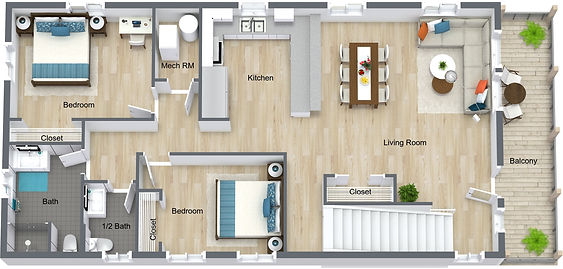 GGR - 832 18th - 2nd Level - 3D Floor Pl