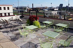 Northstar apartment's rooftop patio in dinkytown