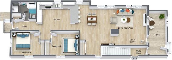 GGR 1519 Rollins - Main Floor - 3D Floor