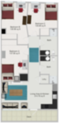 Northstar Dinkytown Apartments Three Bedroom Floor Plan D