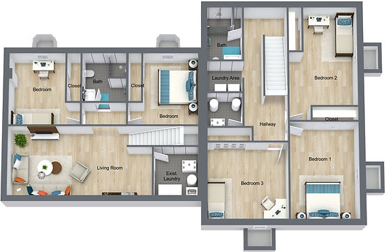 GGR 1078 18th - Basement - 3D Floor Plan