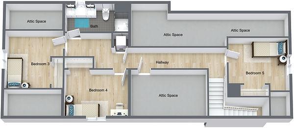 GGR 1519 Rollins - 3rd Floor - 3D Floor
