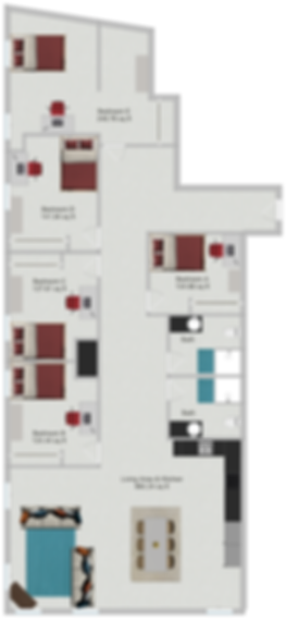 Northstar Dinkytown Apartments Five Bedroom Floor Plan B