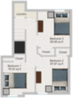 The Cluster Dinkytown Apartments Three Bedroom Floor Plan 102